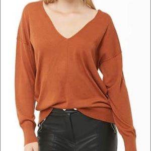 3 for $20!! Forever 21 rust v-neck sweater